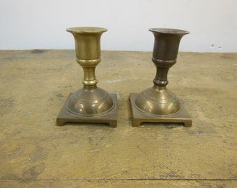 Brass Like Candle Holders Set of 2