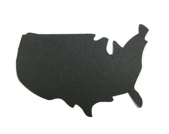 Silhouette of The United States Large Paper Cut Out set of 25