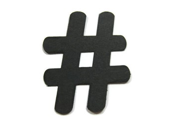 Hashtag Paper Cut Out set of 25