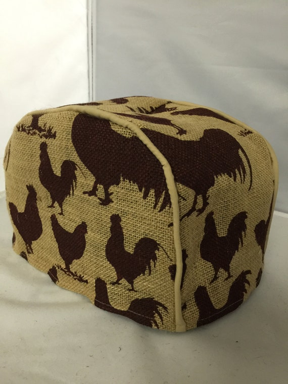 rooster 2 slice toaster cover by kitcheninspirations on etsy. Black Bedroom Furniture Sets. Home Design Ideas