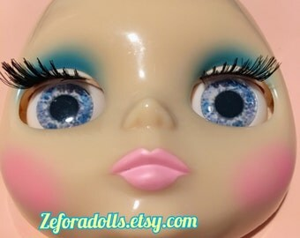 Realistic Light Blue Soft Resin Eye Chips For Blythe (14 mm)