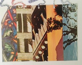 Vinyl Record Sleeve Bookmarks Random Set of Five