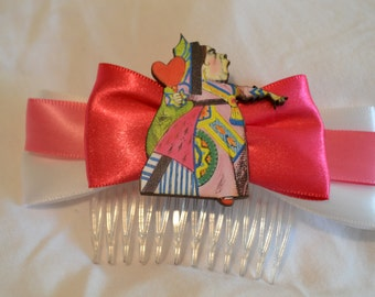 Queen of Hearts Hair Comb