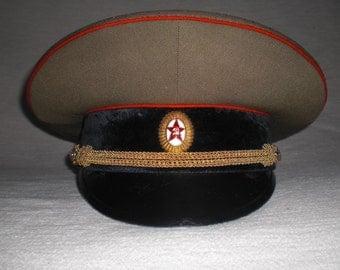 Soviet officer's cap Sovjetische military officer Schirmmütze Gr. 58