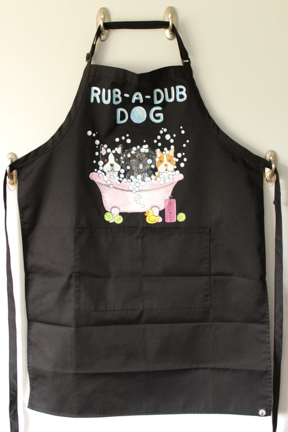 Personalized Rub-A-Dub-Dog Grooming Apron