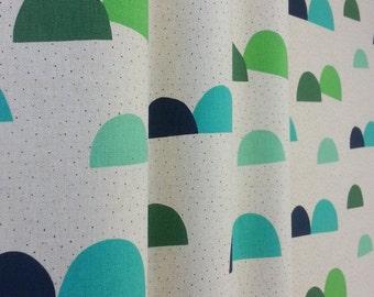 Green curtain | Geometric print curtains | cute curtain | Scandinavian curtain | Nursery curtain | pair of curtains