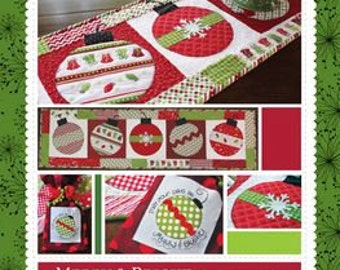Merry and Bright Table Runner and Tea Towel Set By Kimberbell Designs # KD158