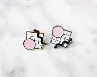 Arrange / abstract enamel lapel pin