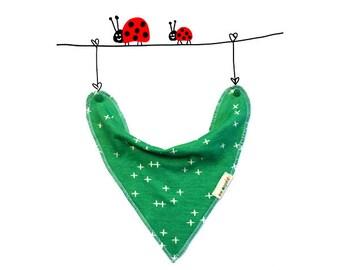 organic bib green, green baby bib, organic baby bandana bib, baby organic unisex, baby gift, newborn gift idea, drool bib, organic baby set