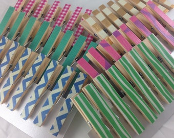 Any 2 Sets of Clothespins, Buy 2 sets and save!, Decorative Clothespins, Desk Organization, Great Teacher Gifts, Cute Desk Accessories