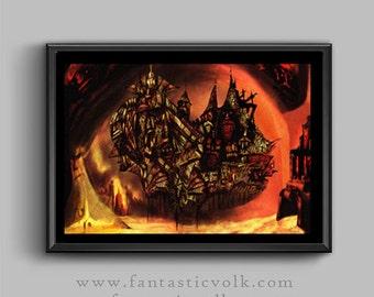fantasy art print surreal fantasy art illustration download print art print download print Artist print,surreal,fantasticfantasy art