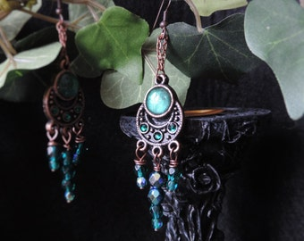 """Earrings """"Travel with me - green"""""""