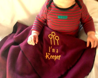 Harry Potter Inspired Baby Blanket - Personalized name custom - Baby shower gift - unique gift - baby bedding accessory