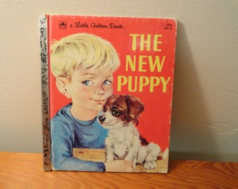 1966 Little Golden Book The New Puppy By Kathleen N Daly