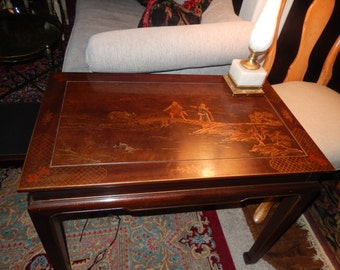 HENREDON CHINOISERIE TABLE with Leaves
