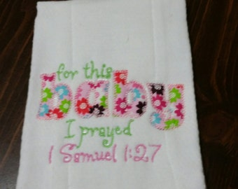 For ths baby burp cloth