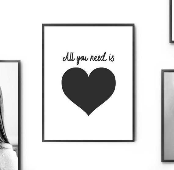 Wall Decor All You Need Is Love : Wall decor printable art all you need is love by artcostore