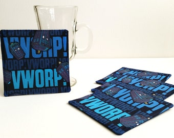 Doctor Who Coasters - Fabric Coasters - Cloth Coasters - Set of 4