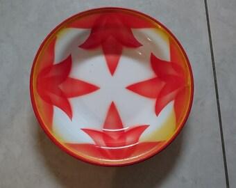 Vintage plate, enameled plate made in Yugoslavia