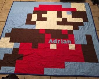 Mario 8-bit Quilt