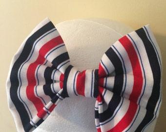 Headband, baby headband,girls headband, toddler headband, baby bow headband, hair bow- 4th of July