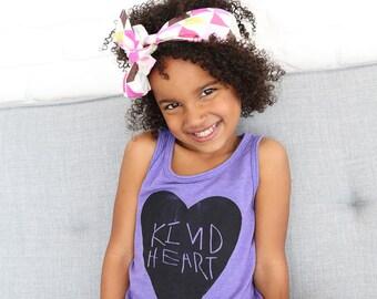 Kind heart toddler tank top, kindness shirt, toddler girl clothes, toddler girl tops, kids tank top, toddler girl shirts,  ORCHID TANK