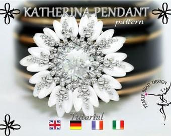 KATHERINA Pendant pattern with chilli beads DIY tutorial