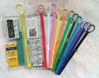 "Clear vinyl bags 4""x10"" with pocket and loop; available in 12 colors of closures"