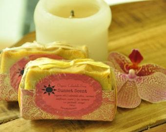 Organic  Hand made Calendula Soap ~ SUNSET SCENT ~