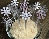 Set of 12 Snowflake Ice P...