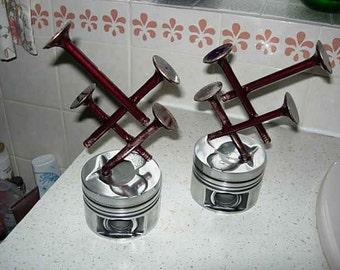 stunning pair of piston sculptures