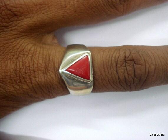 Triangular Moonga Ring