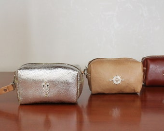 leather clutch purse, made entirely by hand