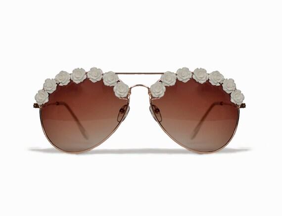 Los Angeles Boho Ivory Coachella Festival Sunglasses