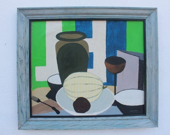 Vintage Still Life Abstract Table Setting By Larzelere.