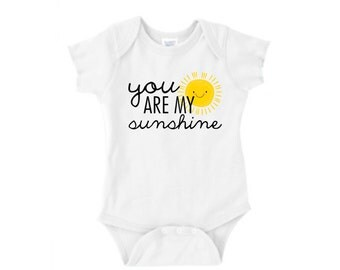 You are my sunshine White Baby Onesie for the Boho Baby Lullaby Apparel Cute Baby Clothing