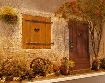 Framed ,Door ,window Art, diorama