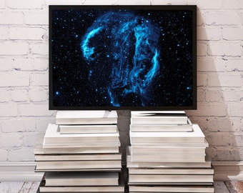 Cygnus Loop Nebula poster Space decor Galaxy print