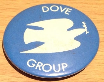 Vintage 1980's Dove Group CND Badge