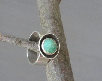 ON Sale Variscite Ring in Silver