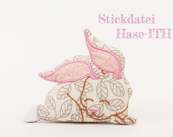 Machine embroidery applique Bunny-ITH