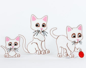 Embroidery files cat - set of 3