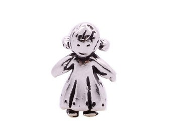 Girl 3-D Floating Charm