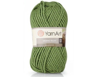 MERINO BULKY  YarnArt 100 gr.- 100 m. knitting crochet Soft yarn , Wool Yarn, Wool mixture, chunky yarn