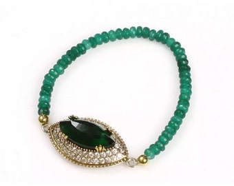 Fabulous sapphire and emerald bracelet
