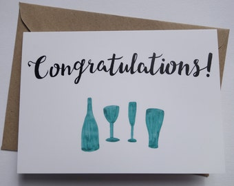Congratulations Drinks Greetings Card