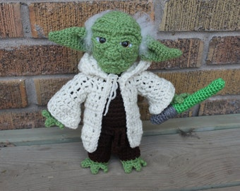 Crocheted Yoda Doll - Star Wars - Made to Order