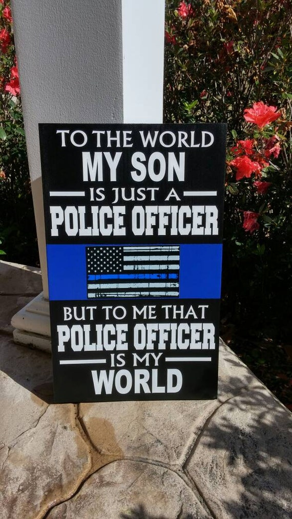 Thin Blue Line Personalized Police Wood Wall Plaques Police
