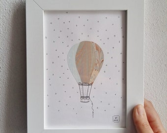 Picture 16, 5x21 .5 cm with air balloon illustration
