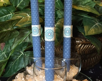 "Throat Chakra 8"" Taper Candle Set"